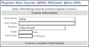 NRAInstructors.org Screenshot